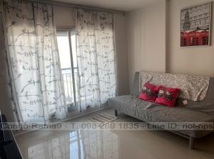 For RentCondoRama9, RCA, Petchaburi : RENT !! Condo Aspire, MRT Rama 9, 2 Beds, Tower A, Floor 12, Area 66 sq.m., Rent 25,000 Baht