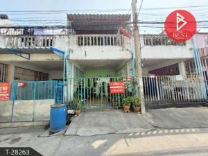 For SaleTownhouseSamrong, Samut Prakan : Urgent sale, 2-storey townhouse, Bodiphat 2 village, Praksa, Samut Prakan