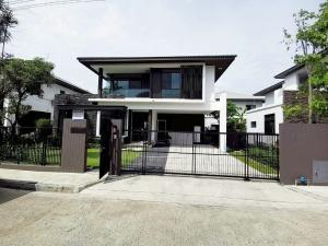 For RentHouseSamrong, Samut Prakan : House for rent Manthana Srinakarin-Bangna Nam Daeng 74 sq m. 3 bedrooms 3 bathrooms BTS Bearing.