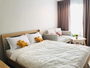 For RentCondoLadprao, Central Ladprao : ☘️ For rent, Life Ladprao, cute room, ready to move in.