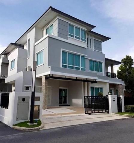 For SaleHouseRamkhamhaeng,Min Buri, Romklao : 3 storey luxury mansion for sale Krungthep Kreetha District Near Expressway Rama 9, Grand Bangkok Boulevard, Rama 9 9- Srinakarin