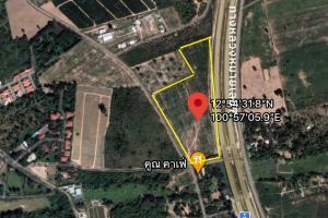For SaleLandPattaya, Bangsaen, Chonburi : Land for sale in Nong Prue On the road (Pattaya - Map Ta Phut), special highway number 7, 19 rai, on 3 roads