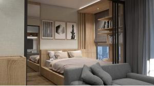เช่าคอนโดลาดพร้าว71 โชคชัย4 : ให้เช่า Condo Living nest ลาดพร้าว 44 ใกล้ MRT ภาวนา, 5 นาที ถึง MRT ลาดพร้าว  ราคา 13,000 บาท