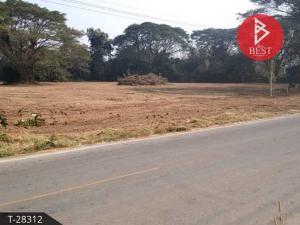 For SaleLandLampang : Beautiful land for sale on the road 5 rai 54 square meters, Mae Phrik, Lampang.