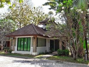 For SaleHouseNakhon Nayok : Single house for sale, large house, 97.5 sq m, ready to be shady, good atmosphere Mountain Ngam Resort Project