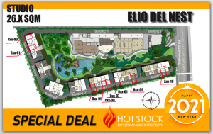 For SaleCondoOnnut, Udomsuk : Studio - Elio Delnest, Size - 26 sqm, beautiful position, special unit, 2.09 million * with free 4 per! The price is limited for one item.