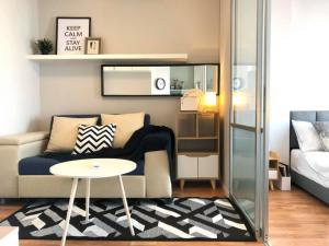 For SaleCondoLadkrabang, Suwannaphum Airport : Condo for sale Lumpini Ville On Nut - Lat Krabang 2, 7th floor, Building D, newly renovated room, fully furnished, convenient transportation, near Airport Link Thap Chang (CH22-07)