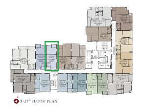 Sale DownCondoWongwianyai, Charoennakor : Sell down payment 1BR 35 m2, north, 9th floor, buy day, presale, there is a discount as a superior suite.