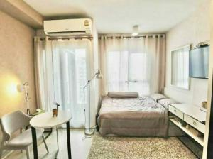 For RentCondoBang Sue, Wong Sawang : New Condo for rent, Chapter One Shine Bang Po, Studio room South, River view, very beautiful, view the river curve from the room