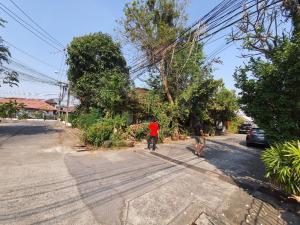 ขายบ้านพัฒนาการ ศรีนครินทร์ : ขาย บ้านเดี่ยวชั้นเดียว หลังมุม หมู่บ้านอยู่สบาย ถนนกรุงเทพกรีฑา เขตสะพานสูง กทม.