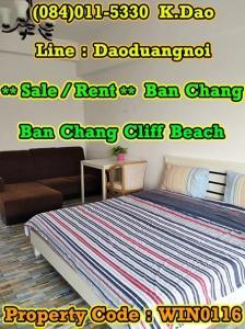 ขายคอนโดระยอง : Sale/Rent Ban Chang Ban Chang Cliff Beach Condotel Studio Type 3rd Floor Area 37.47 Sq.m