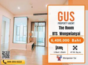 For SaleCondoWongwianyai, Charoennakor : Like new at a great price The Room BTS Wongwian Yai 1 Bed size 47.91 sqm.