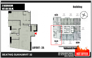 For SaleCondoSukhumvit, Asoke, Thonglor : 2BED - Beatniq Sk 36 positions, beautiful, high floor, beautiful view, 18.8 million * with secret promotion! Good items are limited, VVIP units are available to choose from, the best around Cooperate, get cattle.