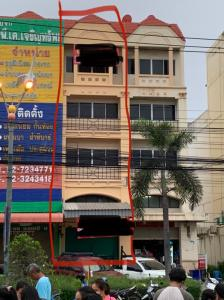 For SaleShophouseSamrong, Samut Prakan : Urgent sale !! 4-storey commercial building next to the main road, Nikhom-Praeksa, very good location, interested in making an appointment.