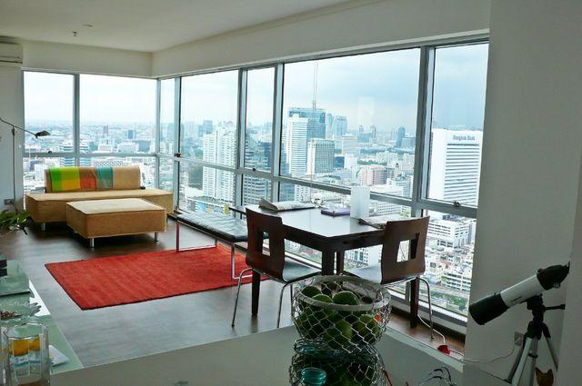 For RentCondoSilom, Saladaeng, Bangrak : For rent Silom Suite Condo Sathorn Soi 12 (Behind HealthLand) 70 sqm. Corner room, full view from high floor, very beautiful, close to BTS