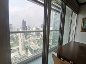 For RentCondoSilom, Saladaeng, Bangrak : For rent Silom Suite Condo Sathorn Soi 12 (Behind HealthLand) 38 sqm. Full view from high floor near BTS
