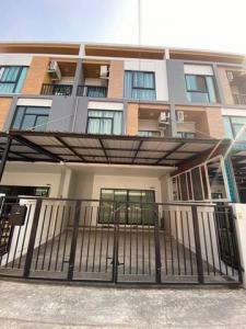 For RentHome OfficeRamkhamhaeng,Min Buri, Romklao : Rtj662 3-storey home office for rent, Trio Rom Klao Village, Trio Rom Klao.