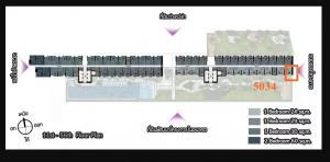 Sale DownCondoRattanathibet, Sanambinna : ✨✨ Selling down payment, quick !! Cheap, The Politan Aqua 1 Bedroom 24 sq.m., price only 1.74 million baht, 50th floor, corner room, near MRT Phra Nang Klao Bridge, ready to transfer ✨✨