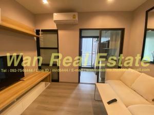 For RentCondoRattanathibet, Sanambinna : Condo for rent, politan aqua, 11th floor, corner room, garden view, fully furnished pool, affordable price, new room