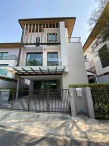For RentHouseLadkrabang, Suwannaphum Airport : B287 3-storey detached house for rent, AQ Arbor, Suan Luang Rama 9-Phatthanakan Road, Chaloem Phra Kiat Rama 9 Soi 48.