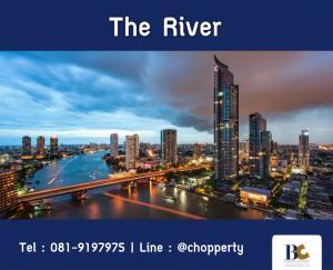 ขายคอนโดวงเวียนใหญ่ เจริญนคร : *Hot Price + Fully Furnished* The River 1 Bedroom 45 sq.m. : 7.9 MB [Tel 081-919-7975]