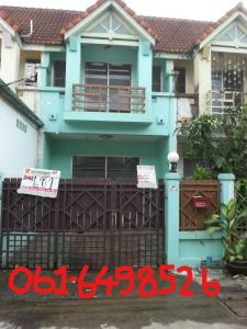 For RentTownhouseRamkhamhaeng,Min Buri, Romklao : Rent: 2-storey townhouse, area 17 sq m. 🌈 Village, Poonsinthani 3, Soi Kheha Rom Klao 64