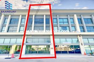 For SaleShophouseRangsit, Patumtani : 3-storey commercial building for sale, J-Biz Rangsit-Klong 1, new condition.