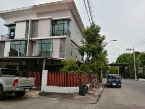 For SaleTownhouseRama5, Ratchapruek, Bangkruai : OK-P024 3-storey townhome for sale (behind the corner), good location Pruksa Ville 63/2 Rama 5 Wongsawang Soi Bang Phai 14 (Soi Wat Sangkhathan), Nakhon In Road, close to Rama 5 Bridge