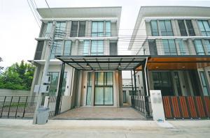 เช่าโฮมออฟฟิศพัฒนาการ ศรีนครินทร์ : ให้เช่าบ้าน โฮมออฟฟิศ ทาวน์โฮม 3 ชั้นครึ่ง พาทิโอ พัฒนาการ 32 บ้านใหม่ 226 ตรม. โทร.061-565-5192