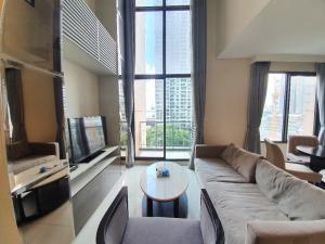 For RentCondoRama9, RCA, Petchaburi : Condo for rent at Villa Asoke, 1 Bedroom Duplex near MRT Phetchaburi