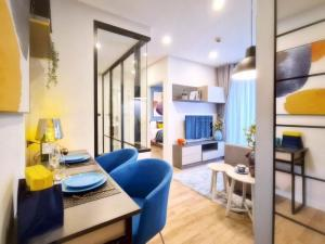 For SaleCondoRama9, RCA, Petchaburi : Urgent sale, Groove Ratchada-Rama 9 condo, Groove Ratchada-Rama 9, ready to move in, fully furnished, reduced to a million