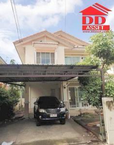 For SaleHouseBangbuathong, Sainoi : 2-storey detached house for sale, Chonlada village Ring-Rattanathibet Soi Wat Lat Pladuk, Bang Yai, Nonthaburi, near the Central West Gate MRT Purple Line, Khlong Bang Phai Station