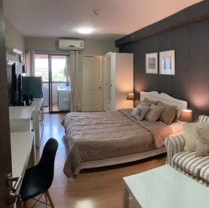For RentCondoRamkhamhaeng, Hua Mak : ✅ For rent, Supalai City Resort Ramkhamhaeng, size 30 sqm, complete with furniture and electrical appliances ✅