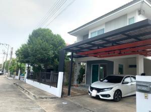 For SaleHouseRama5, Ratchapruek, Bangkruai : 2 storey detached house for sale, Inizio Pinklao-Wongwaen, cheap price, 50 sq m, 3 bedrooms, 2 bathrooms, shady atmosphere