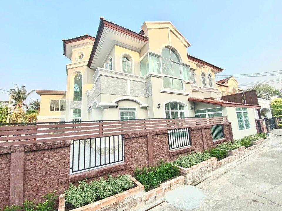 For SaleHouseChengwatana, Muangthong : 2 storey detached house for sale, area 120 sq m, Pak Kret area, Saranon-Pak Kret village, Tiwanon