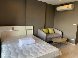 For RentCondoBang Sue, Wong Sawang : * There is a washing machine * Line @wmcondo Condo for rent, Ideo mobi grand interchange bangsue, size 25 sqm., Floor 27, studio with furniture + appliances, price 8,500 baht.