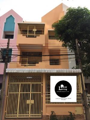 ขายทาวน์เฮ้าส์/ทาวน์โฮมเอกชัย บางบอน : ขายทาวน์โฮม 3 ชั้น หลังใหญ่ หมู่บ้านรัชดา อาคาเดียน บางบอน