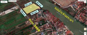 ขายที่ดินอยุธยา สุพรรณบุรี : ขายที่ดินติดถนนใหญ่สาย 3469 ใกล้ริมแม่น้ำเจ้าพระยา อำเภอเมือง-บางปะอิน จังหวัดอยุธยา