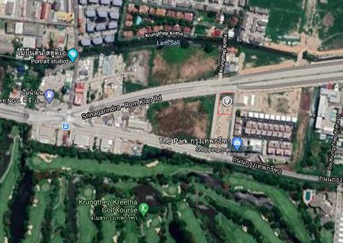 For RentLandPattanakan, Srinakarin : Land for rent, Krungthep Kreetha 9, near The Park, almost 2 rai of land.