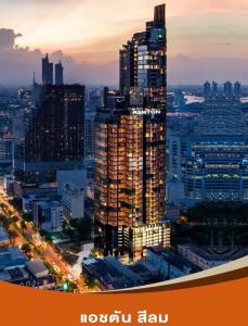 For SaleCondoSilom, Saladaeng, Bangrak : Sale with furniture, river view, 🔥 1 Bed 32.39 sq m, only 7.79 MB. Ashton Silom