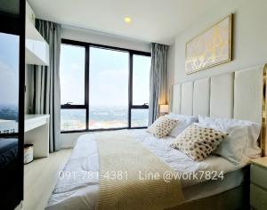 For RentCondoKasetsart, Ratchayothin : ❎ corner room rental ❎ 2 bedrooms, fully furnished with electrical appliances.