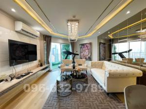 ขายคอนโดพระราม 9 เพชรบุรีตัดใหม่ : ขาย คอนโด Belle Grand พระราม 9 ห้อง Duplex ขนาด 108 ตรม. 2 Bed ชั้น 32 ติดเซนทรัลพระราม 9 แต่งสวยมาก