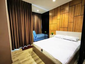 For RentCondoSamrong, Samut Prakan : Condo for rent, Knightsbridge sky river ocean, built-in room, complete electrical appliances, near BTS