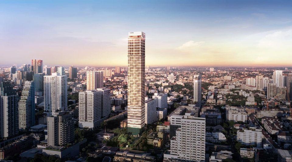 Sale DownCondoSukhumvit, Asoke, Thonglor : Sale down payment Noble Form Thonglor, high floor, Fullplex room, Bang Krachao view.