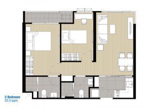 ขายดาวน์คอนโดปิ่นเกล้า จรัญสนิทวงศ์ : ขายดาวน์คอนโด IDEO จรัญ70 ห้องใหญ่ 55.5 ตรม.