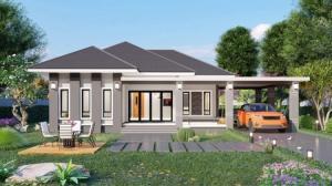 ขายบ้านสระบุรี : เปิดจอง บ้านเดี่ยวชั้นเดียว บ้านขวัญเมือง โครงการ 1 เฟส 1 นิคมเหมราช สระบุรี