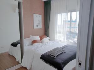 For RentCondoSamrong, Samut Prakan : For rent Notting Hill Sukhumvit - Praksa BTS Praksa price 11,000 baht