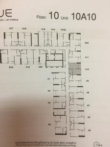 ขายดาวน์คอนโดลาดพร้าว เซ็นทรัลลาดพร้าว : Nue Noble รัชดา ลาดพร้าว - เจ้าของขายดาวน์ 1 ห้องนอน 26 ตรม. ชั้น 10 ตำแหน่ง A10
