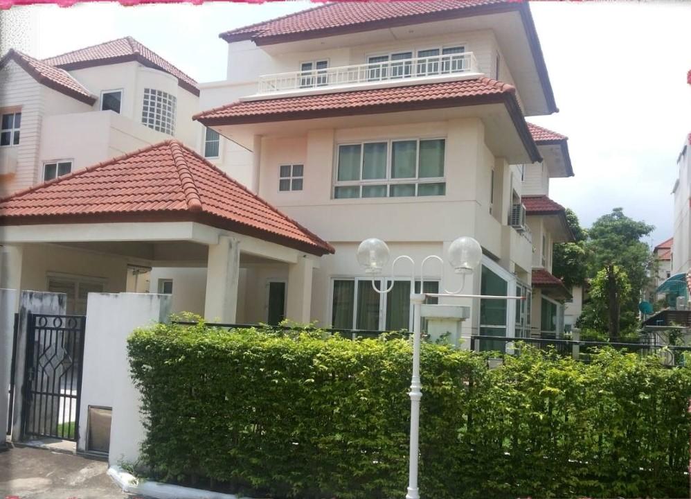 เช่าบ้านเสรีไทย-นิด้า : ให้เช่า! ด่วน บ้านเดี่ยว3ชั้น 78ตรว. ถนน วงแหวน-อ่อนนุช  ใกล้สนามบินสุวรรณภูมิ ให้เช่า42,000/เดือน