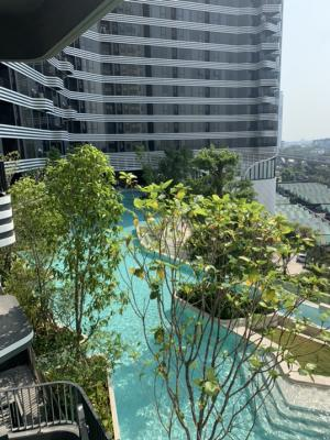 For SaleCondoBangna, Lasalle, Bearing : Out of reservation, selling during covids 🔥 ideo mobi sukhumvit eastpoint (Ideo Mobi Sukhumvit Eat Point) Bangna 1 bed, large size 40 sq.m., very high floor, price 4.3 million baht. Pool view, only 1 room per floor.